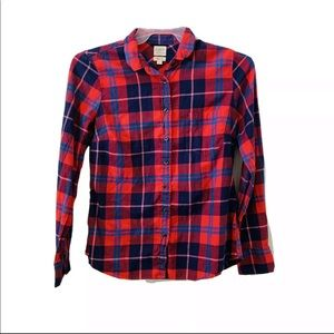 J Crew Plaid Perfect Fit Shirt Size S